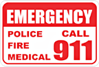 For Emergencies Call 911